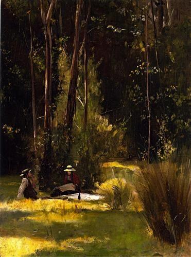 1887 - A Sunday Afternoon Picnic at Box Hill - Tom Roberts