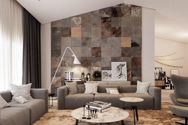 Living Room Decorating Ideas With Brown Sofas From Erlind Llanaj Ide Dekorasi Dinding Ruang Tamu Desain Kamar Desain Ruang Makan