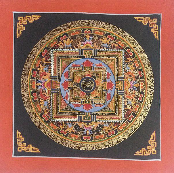 Mandala Buddha Art Canvas Wall Hanging Thangka Painting for Sale e77