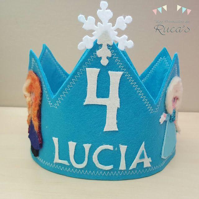 Los Productos de Ruca's: Otra corona de cumpleaños de Frozen en fieltro