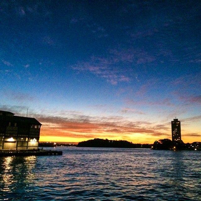 Sunset at Pier 1, Sydney Harbour
