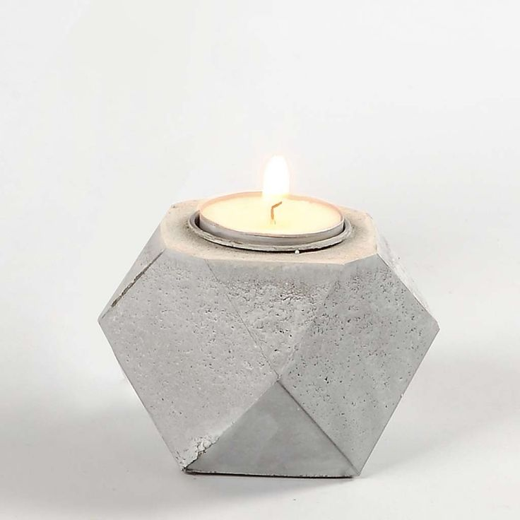 A Concrete Candle Holder