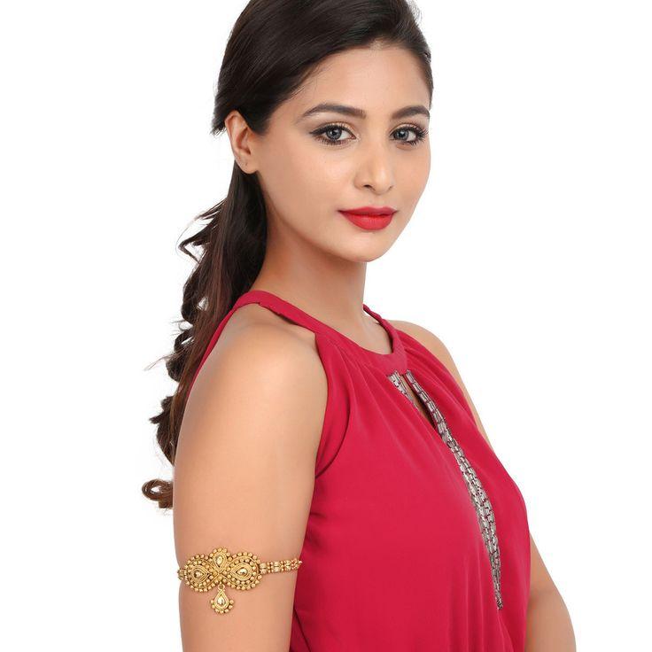 Antique BajuBand 57032 #Kushals #Jewellery #Fashion #Indian #Jewellery #Wedding #Accessories #BajuBand #Antique #Festive