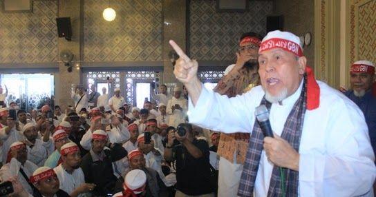 Pakai Ikat Kepala Tauhid, Ulama kharismatik KH Muhammad Husni Thamrin Bakar Semangat Umat Islam Bogor