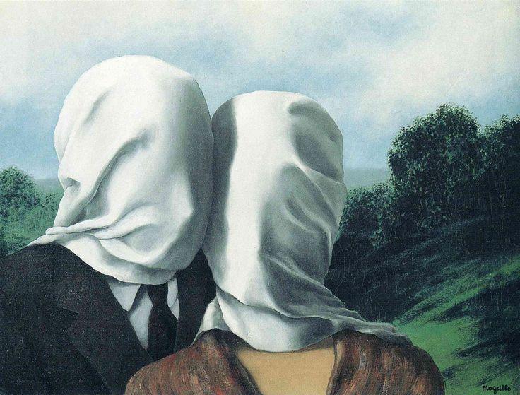 """renemagritte-art: """"  The Lovers, 1928 Rene Magritte """""""