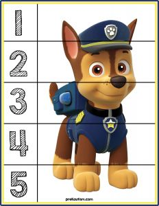 Paw Patrol Number Puzzles - Activities For Toddlers With Autism