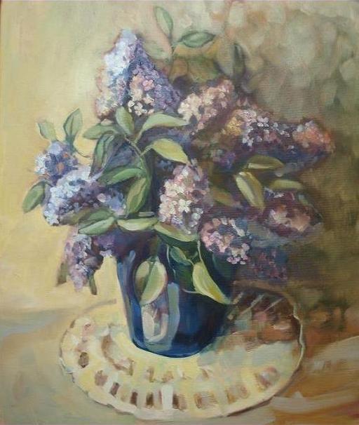 LILAC II (Painting) przez ANNA  BARDZKA
