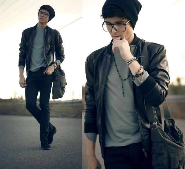 guys jacket. glasses/beanie. | Sure need a Hat ...