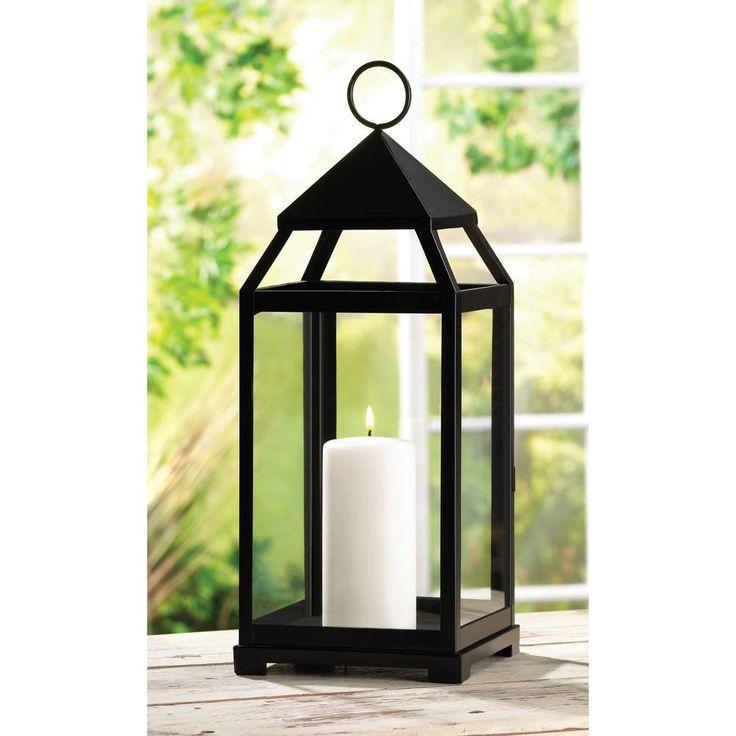 Black Contemporary Lanterns