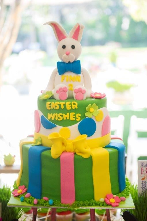 A wonderful Easter Bunny cake by Belle's Patisserie