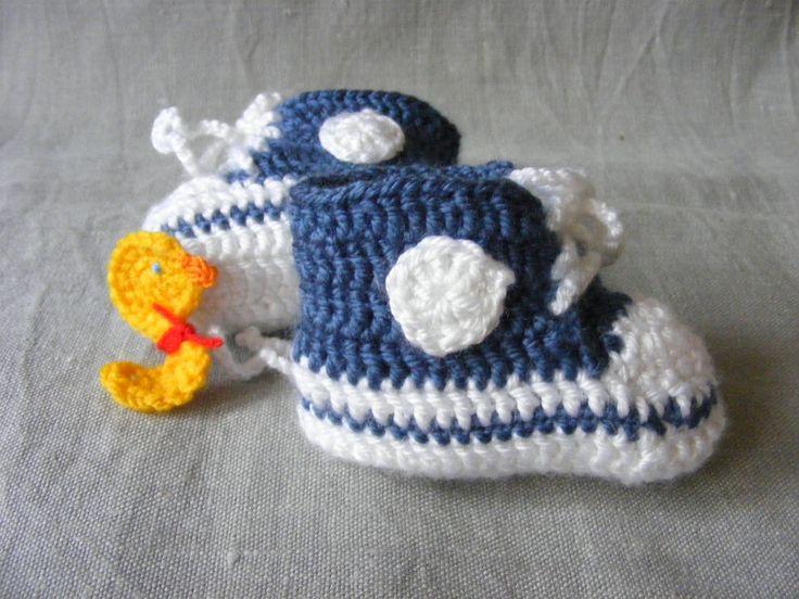 crocheted baby sneakers