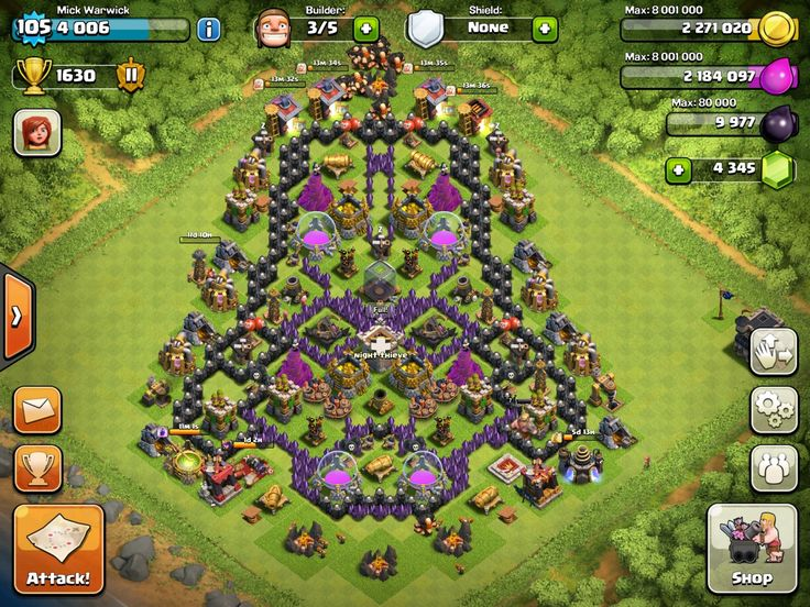 clash of clans base builder for town hall 4