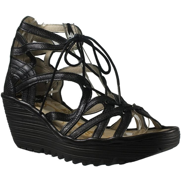 New from Fly London, the strappy Yuke wedge is the ideal summer sandal! Pair them with skirts, dresses and shorts to show off your legs to their best. The neutral rose colour is right on trend with th