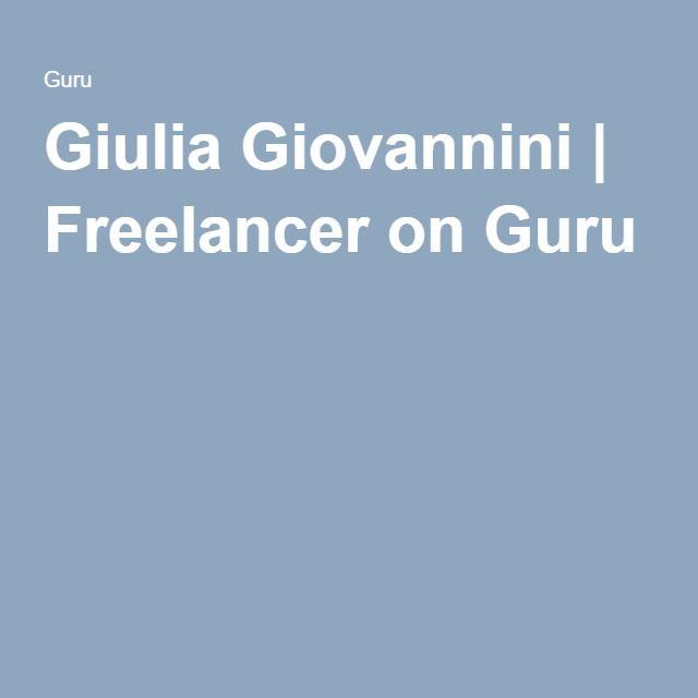 Giulia Giovannini   Freelancer on Guru