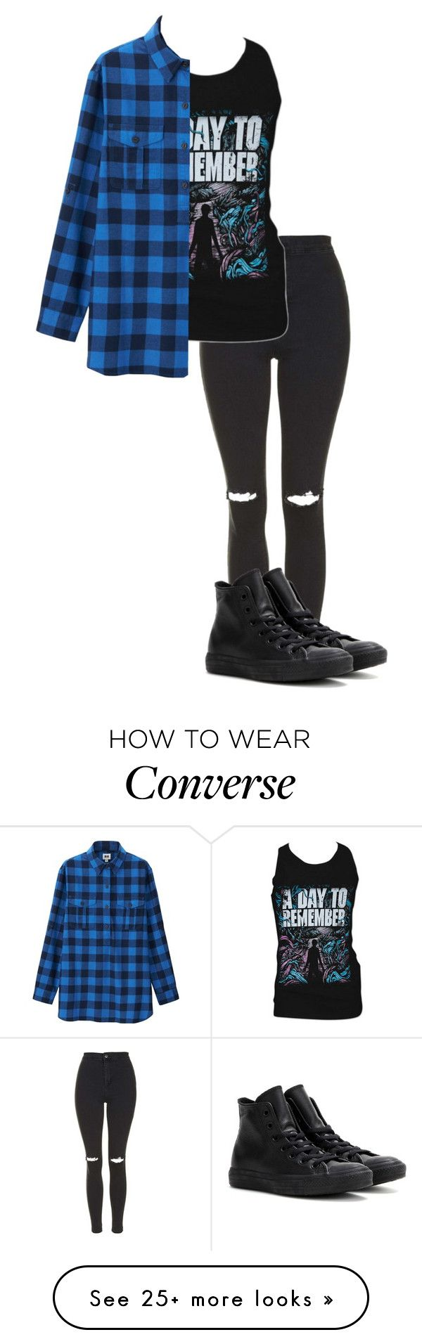 """""""we stitch these wounds//black veil brides"""" by bands-are-my-savior on Polyvore featuring Topshop, Retrò, Uniqlo and Converse"""