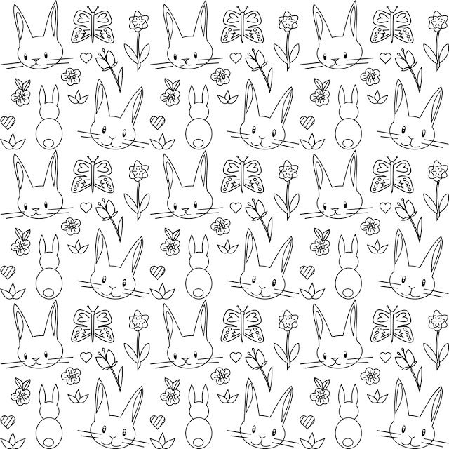 Pattern Coloring Sheets Printables : Best 25 bunny coloring pages ideas on pinterest easter