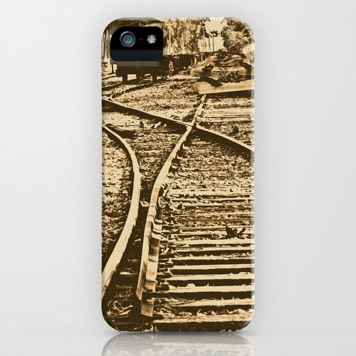 Abandoned Rail Tracks Phone Case Lithograph by YarsPhotography.
