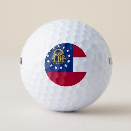 Wilson Golf Ball with flag of Georgia USA - elegant gifts gift ideas custom presents