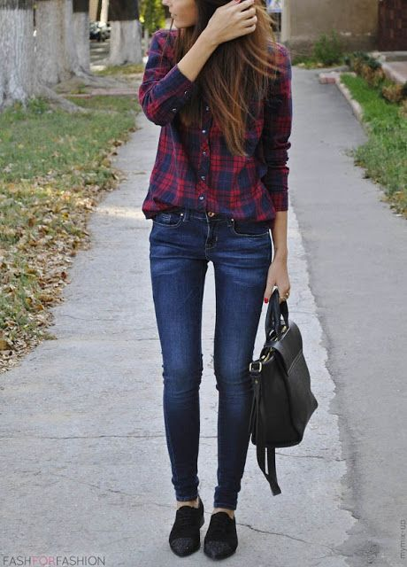 Cute and Comfy Flannel Outfit