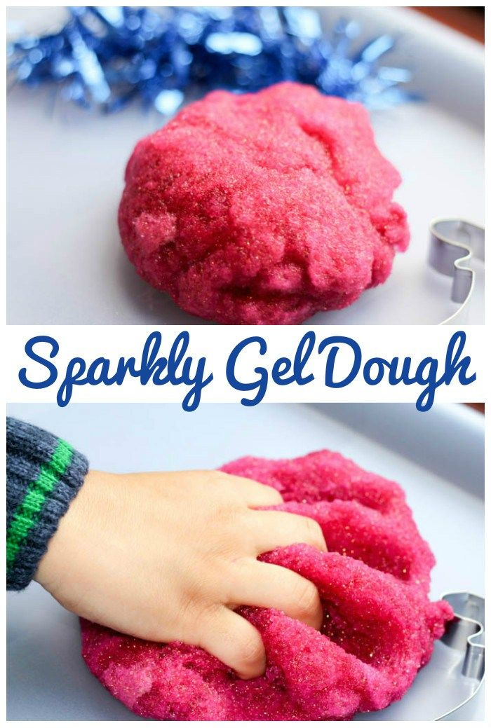Simple Playdough Recipe : Sparkly Gel Dough great for winter or Christmas time
