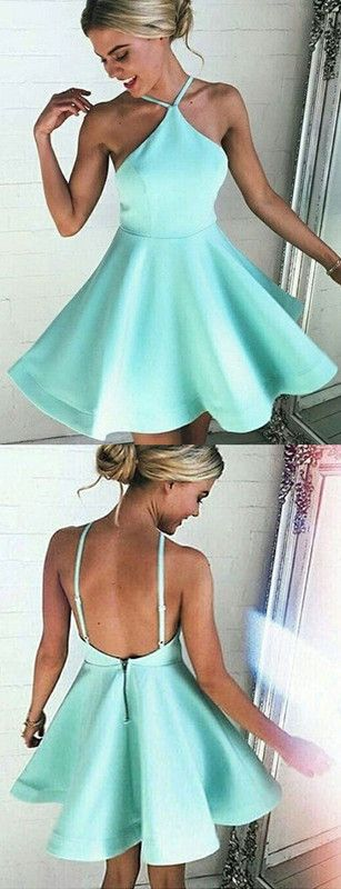 2016 homecoming dress,short homecoming dresses,chic homecoming dress,halter homecoming dress,mint homecoming dresses for teens,party dress,sexy party dress