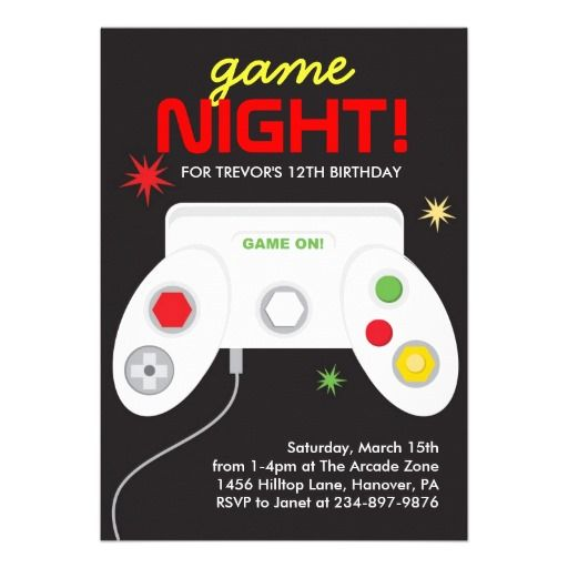 Video Game Party Invites: A Collection Of Design Ideas To