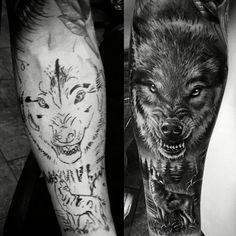 Wolf Tattoo Sleeve