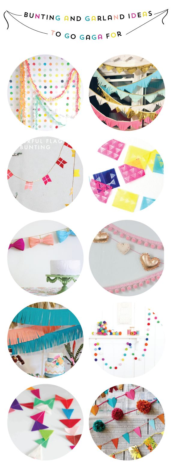 16 Bunting and Garland Ideas #party #festive