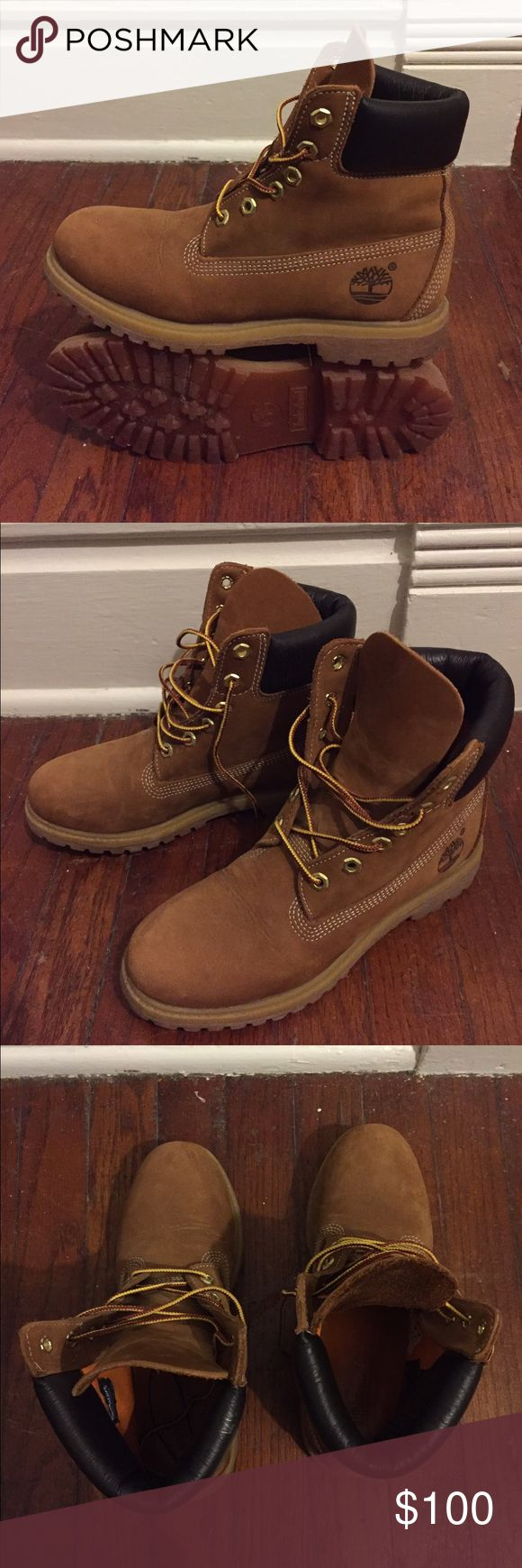 Timberland Women's Boots 7M women's 6 inch waterproof boots. Almost new. Timberland Shoes Lace Up Boots