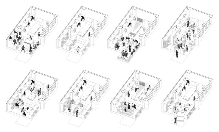 Office arrangements of Particular Studio by Particular Architects