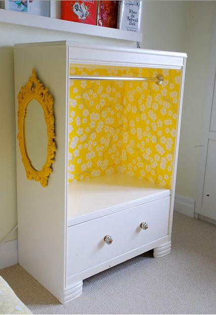 kids closet (dress up/doll closet) - old dresser diy - Rambling Renovators blog (for instructions)