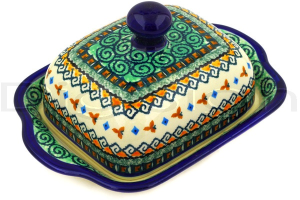 Butter Dish - Polish pottery