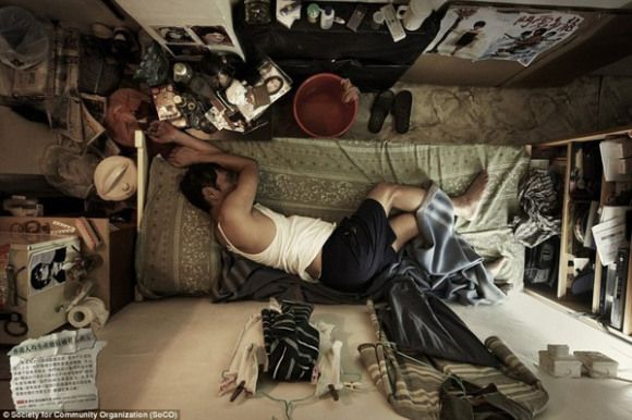 Photo series by German photographer Michael Wolf exploring the crowded world of low-income apartments in Hong Kong.