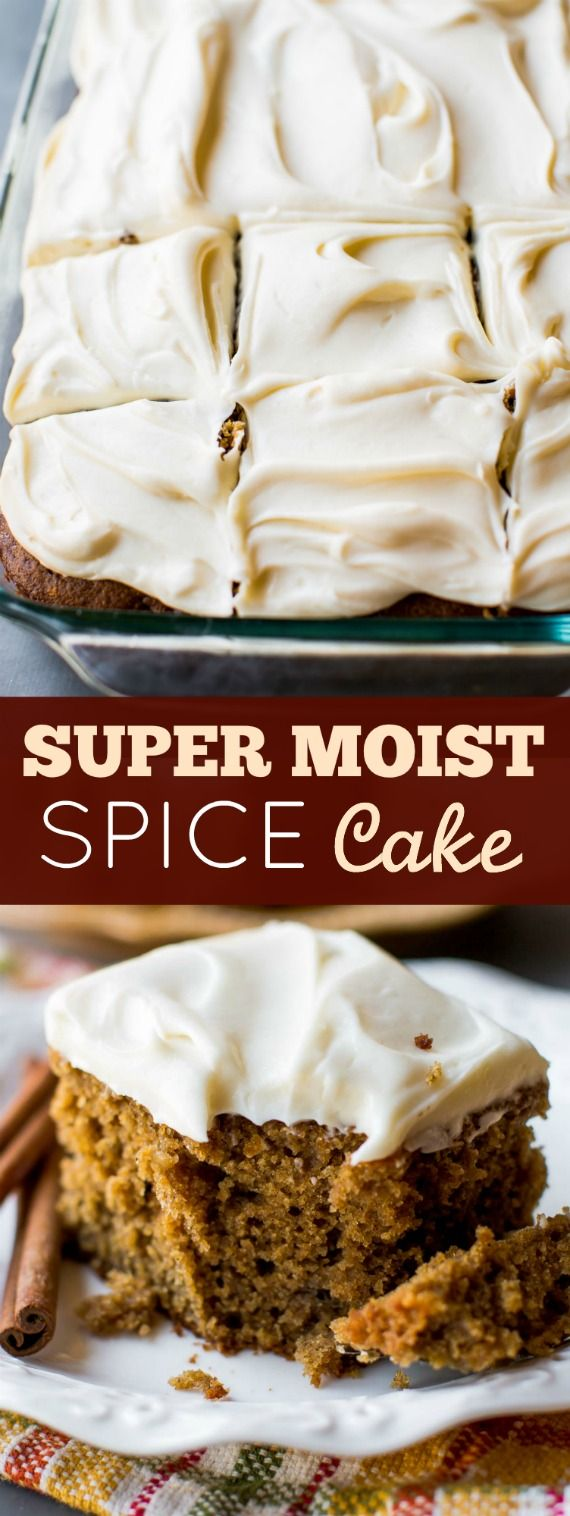 How to make super moist spice cake on sallysbakingaddiction.com