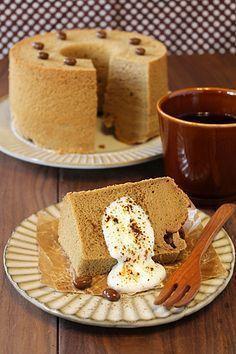 しっとりコーヒー豆乳シフォンケーキ☆ - ぱおのおうちで世界ごはん☆