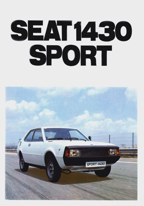 Seat  SPORT 1430 (Folleto belga 1979).