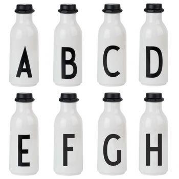 Design Letters Arne Jacobsen drinking bottle, A-H