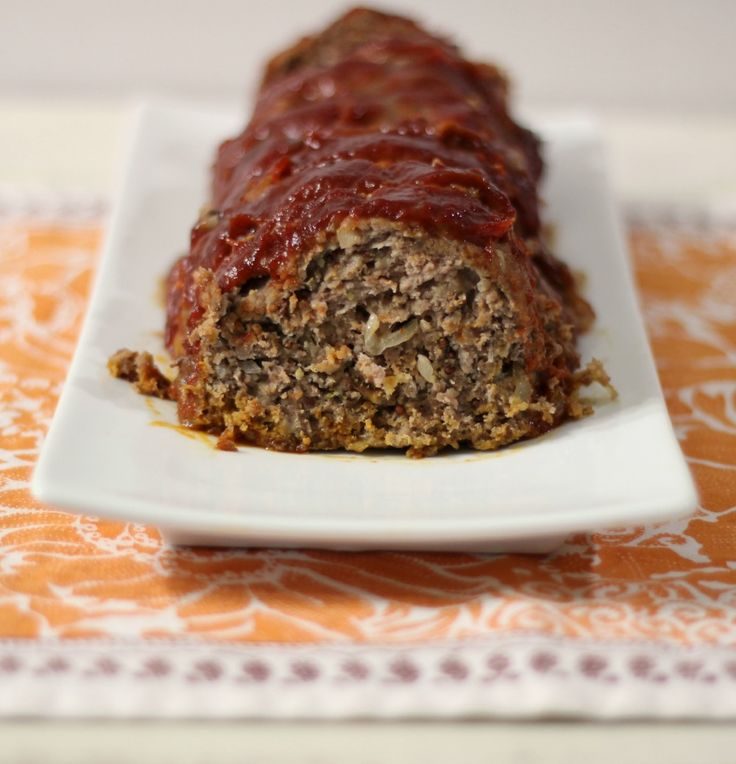 Mom's Meatloaf - A moist, tender, traditional ground beef seasoned with thyme, dijon mustard and worcestershire sauce.