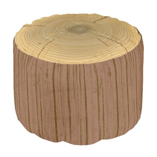 Tree Stump Bean Bag Chair (or Ottoman). Great accent piece in a rustic woodland or forest themed nursery or kid's bedroom!