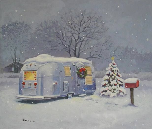 1000 images about airstream on pinterest christmas art for Airstream christmas decoration