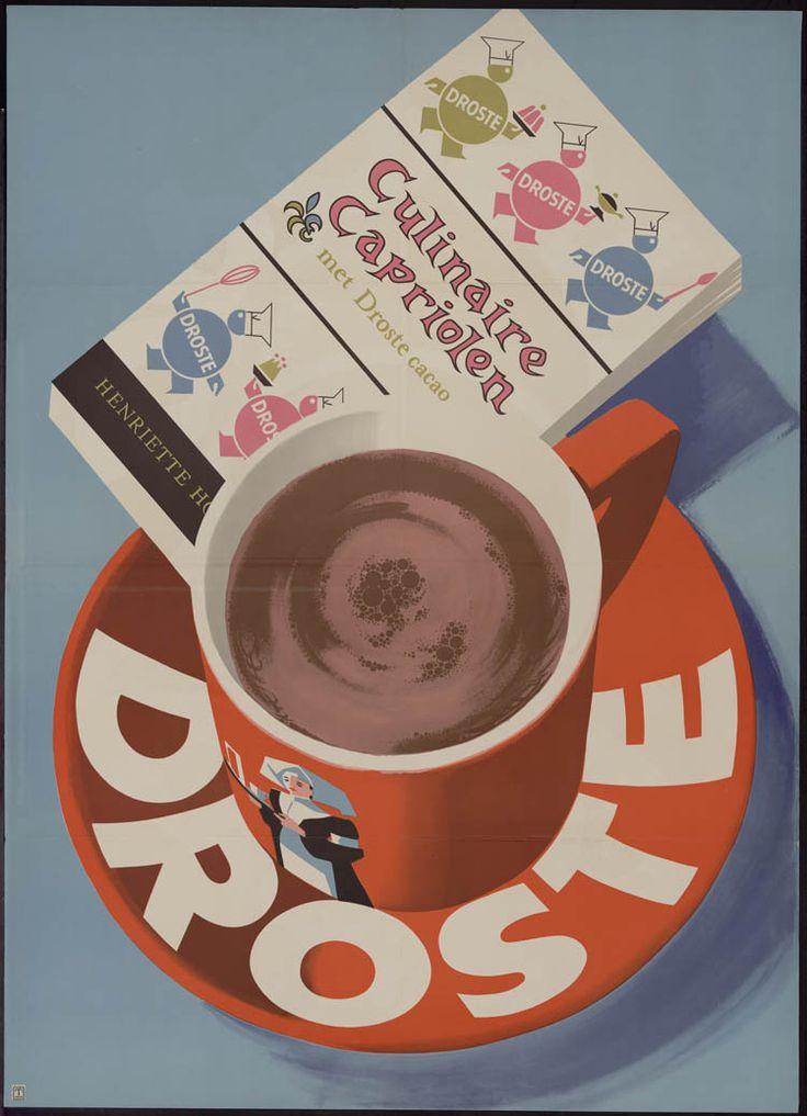 Een affiche van Frans Mettes (1909 -1984) voor Droste uit de periode 1960 - 1970