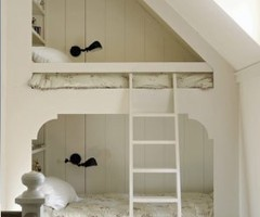 Something like this might work for the steep pitch of the roof in the loft