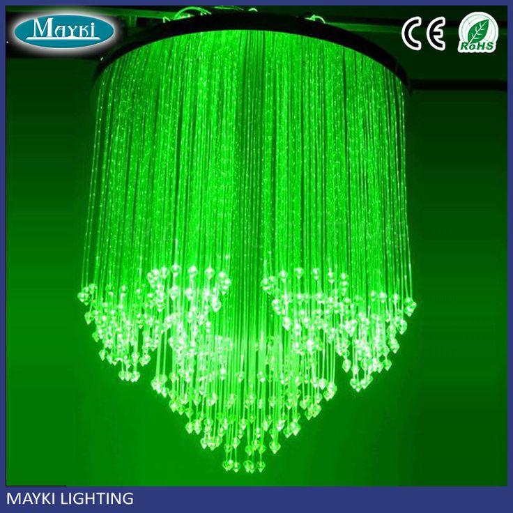 Fiber Optic Ceiling Light with Crystal Pendant,LED fiber optic lighting