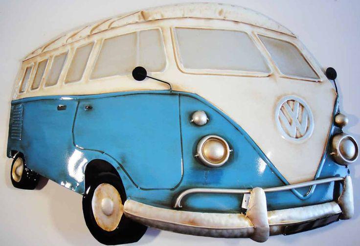 metal wall art blue cream vw camper van vdub pinterest vw camper vans vw camper