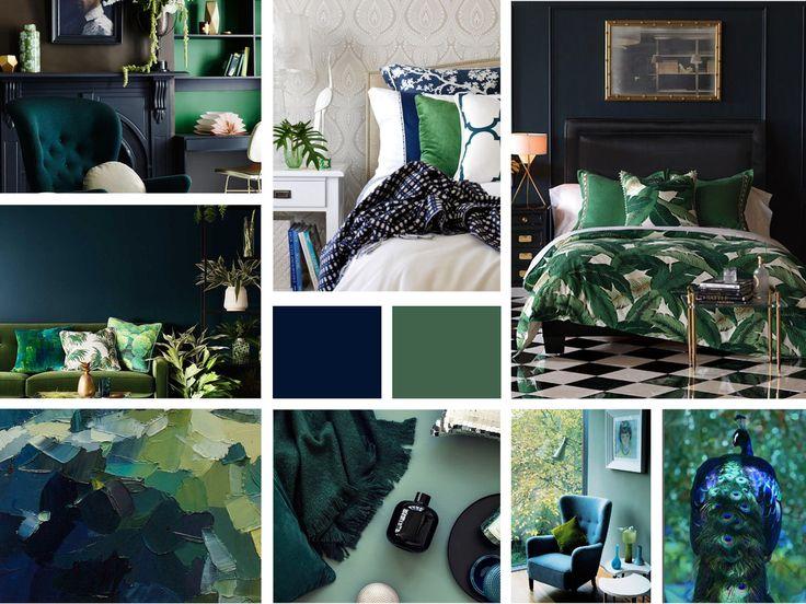Granat + róż, złoto, zieleń | Kolorystyczny Moodboard | 01