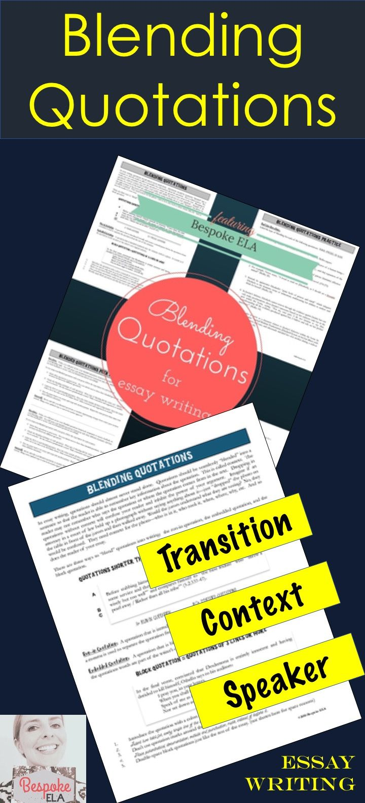 quotes essays rules A general rule of thumb is that within the text of a paper, italicize the title of  complete works but put quotation marks around titles of parts within a complete  work.