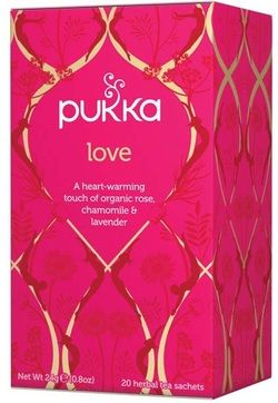 Pukka Love Tea - A heart-warming touch of organic rose, chamomile and lavender.