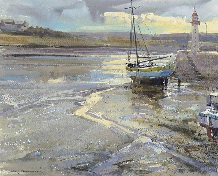 """Ray Balkwill Morning Light, Erquy Harbour 25.5 X 26.5 """""""
