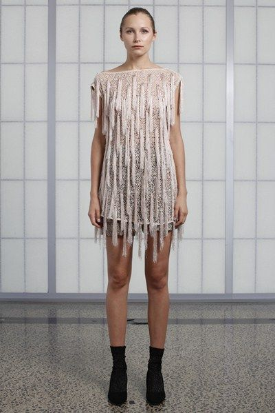s/s 13/14 womens key looks  - W08. fringe mini in pearl.
