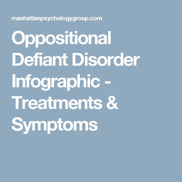 Oppositional Defiant Disorder Infographic - Treatments & Symptoms